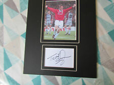 Teddy SHERINGHAM  Man Utd & England  Original Hand SIGNED & Mounted Display