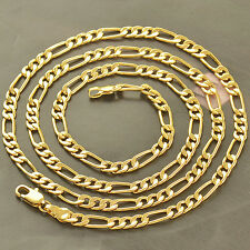 "24"" 9K YELLOW GOLD FILLED MENS CHAIN NECKLACE,Z2180"