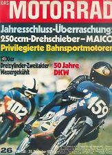Motorrad 26 71 Maico MD 250 Agusta Kawasaki 750 Scott 1971 Deutschland Zweitakt