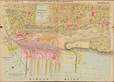 1909 WEST HOBOKEN, UNION, WEEHAWKEN HUDSON COUNTY NEW JERSEY COPY PLAT ATLAS MAP