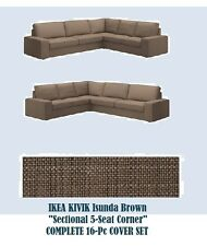 "IKEA Kivik""Sectional,5-""Corner Section+3-Seat Sofa Cover Isunda BROWN Slipcover"