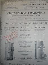 catalogue - dépliant - éclairage par l'acétylène ( ref 9 )