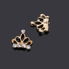 3D Crown Nail Art Alloy& Rhinestone Metal Manicure Jewelry DIY Decoration 5pcs