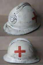 WWII FRENCH ADRIAN HELMET MODEL 1926 M26 / MEDICAL CORPS / PARAMEDICS