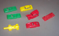 Vintage OLD Estate Sale Red Green Yellow Plastic Cars 1 Hot Rod Shooter VGC