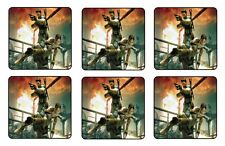 RESIDENT EVIL 5 COASTERS 1/4 BAR & BEER SET OF 6