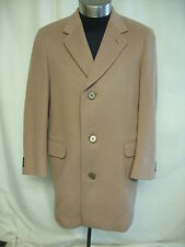 "Mens Coat Aquascutum camel, chest 42"", length 36"", wool/cashmere blend 2039"