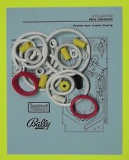 1989 Bally / Midway Atlantis pinball rubber ring kit