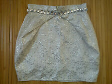 AMAZING JANE NORMAN SILVER PARTY LADIES SKIRT SIZE 8 (0.3)