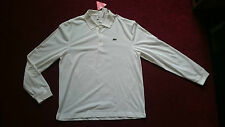MENS LONG SLEEVED POLO SHIRT- WHITE- SIZE 6 XL BRAND NEW WITH TAGS