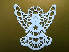 5 x ANGEL DIE CUTS for Cards, Christening, Baby, Wedding, Christmas - White