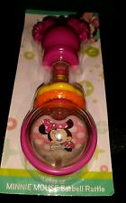 ����DISNEY BABY GIRL MINNIE MOUSE BARBELL RATTLE BPA FREE ����