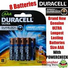 8 PCS DURACELL ULTRA AAA BATTERIES LONGEST LASTING WITH POWERCHECK NEW & GENUINE