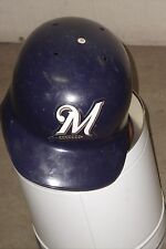 MILWAUKEE BREWERS Lenny Harris game-worn 2002 batting helmet MLB #1 pinch hitter