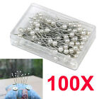 100 /200PCS Pearl  Sewing Head Wedding Corsage Decorating Dressmaking Pins Craft