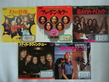 LOT OF 5 / ALL PROMO WL / SCORPIONS VIRGIN KILLER HE'S A WOMAN PICTURED LIFE / 7
