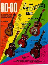 1968 PAPER AD 2 Sided Jefferson Toy GO Go Guitars Roy Rogers Cowboy Banjo Violin