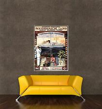 GIANT PRINT POSTER VINTAGE AD DUTCH ROYAL MAIL SHIP EGYPT NETHERLANDS PDC182