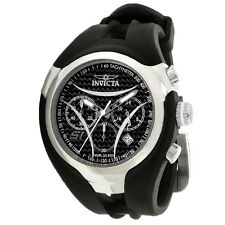 New Invicta 1606 Men's S1 Nitro Stainless Black Dial Rubber Strap Chrono Watch