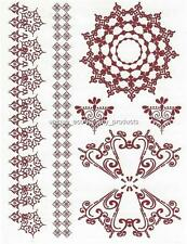 HENNA LARGE SHEET TAT 2488 BROWN  Temporary Tattoo