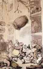 Rowlandson Thomas A Fall In Beer A4 Print