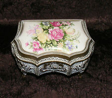 VTG. COLLECT. porcelain top TRINKET/MUSIC BOX-MADE IN JAPAN- please see-AWESOME!
