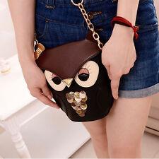 Women Girl Owl Print Shoulder Bag Cross Body Purse Satchel Messenger Handbag AS