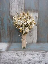 """Mother's Day Dried Flowers Posy Bouquet Baby's Breath Wild Summer Meadow 11"""""""
