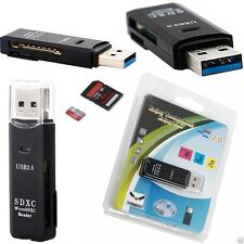 New USB 3.0 High Speed Micro SD SDXC TF Memory Card Reader Adapter 2 IN 1 Retail