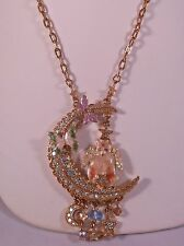 Kirks Folly NWOT Luna Kitty Cat Angel Celestial Moon Necklace