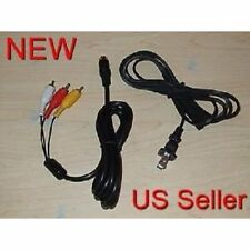 AC Power Cord & AV Audio Video RCA Cable For Sega Saturn System Brand New 7Z