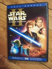 STAR WARS II ATTACK OF THE CLONES ON DVD FULL SCREEN
