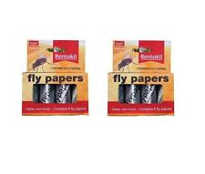RENTOKIL x 2 PACKS OF Traditional Fly Paper 4 in a Pack Poison Free 2x4 Wasp Bee