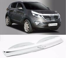 Chrome Emblem Hood Guard Protector Cover 3pcs For KIA Sportage 2011 2015
