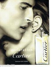 PUBLICITE ADVERTISING  016  2009  Cartier parfum homme Déclaration