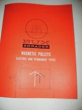 BUX SHRADER MAGNETIC PULLEYS   .    EQUIPMENT ,   GOLD MINING