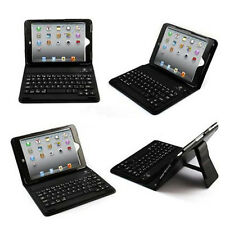 Wireless Bluetooth Leather Waterproof Keyboard Case Cover for iPad Mini