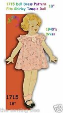 Set of SIX Antique Doll Dress Patterns from 1930's