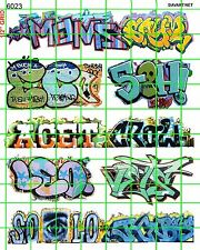 6023 DAVE'S DECALS URBAN GRAFFITI TAGGING FOR DIORAMA, BUILDINGS, TRAINS SUBWAY