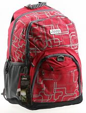 JEEP BACKPACK COLLEGE SCHOOL RUCKSACK TRAVEL HIKING GYM CABIN LAPTOP BAG RED NEW