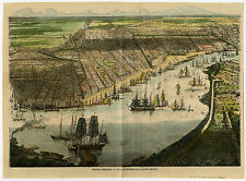Antique Print-NEW ORELANS-VIEW-CIVIL WAR-SHIPS-USA-1880