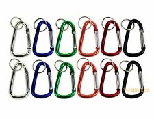 "Lot of 12 Carabiners 3"" Aluminum Hook Lock Keychain Key Ring Spring Belt Clip"