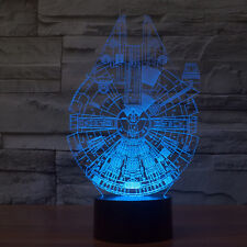 Star Wars Millennium Falcon 3D Stereoscopic Visual Light Acrylic Lamp