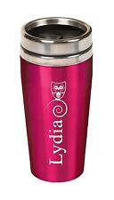 Personalized Laser Engraved TRAVEL COFFEE MUG - Choose your color & design!