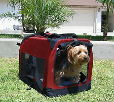 NEW Small Travel Foldable Cat Dog Pet Soft-Sided Crate/Carrier/Kennel-863