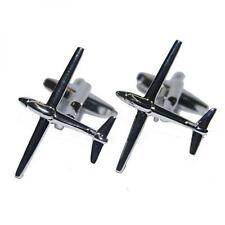 Glider Cufflinks Cruise Air Pilot Plane Aircraft Party Formal Present Gift Box