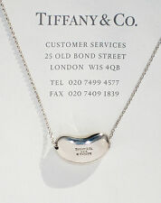 Tiffany & Co Elsa Peretti Sterling Silver 18mm Bean Pendant Necklace