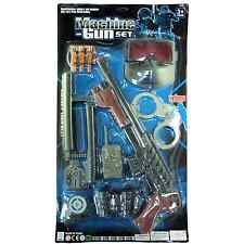 Kids Police Set Shotgun Spec Ops Mask Handcuffs Batons Toy Set & Fancy Dress