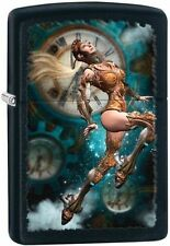 Zippo 28670 steampunk aviator girl black matte finish full size Lighter