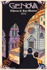 558 - CHIESA S.MATTEO ,Genova, Italy  poster artistico turistico tourist travel